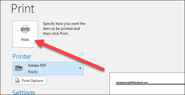 save email as pdf microsoft mail