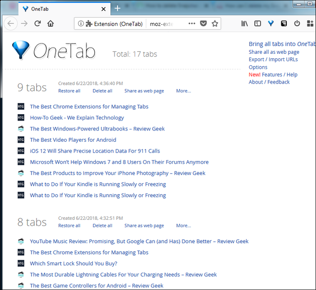 one-tab-by-session