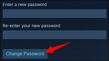 steam how to change password