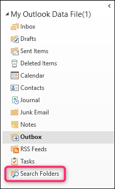 how to search all folders in outlook
