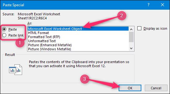 How to Link or Embed an Excel Worksheet in a PowerPoint