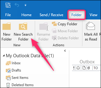 Save Time With Custom Search Folders in Microsoft Outlook