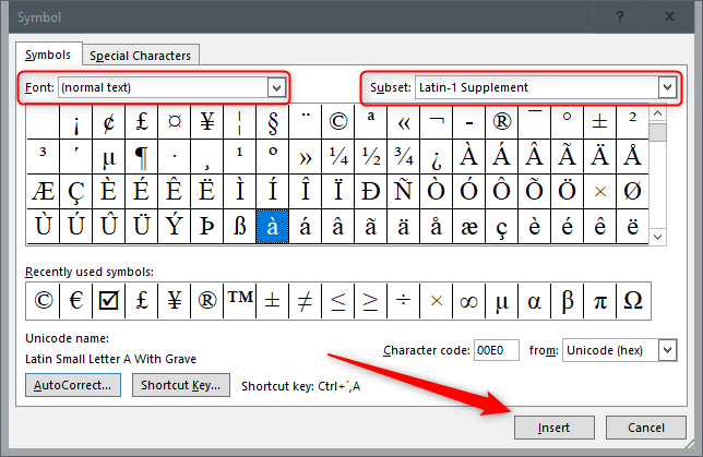 how to type accent marks over letters in microsoft word