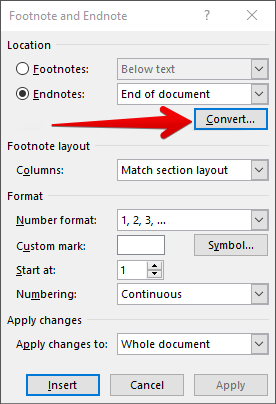 how to create endnotes