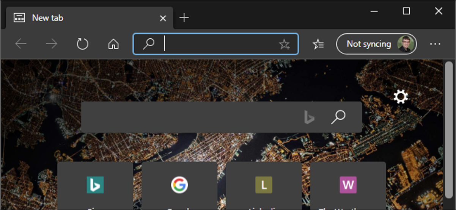 Dark mode enabled in the new Chromium-based Microsoft Edge.