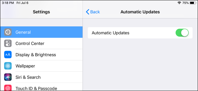how to enable  or disable  automatic updates on your