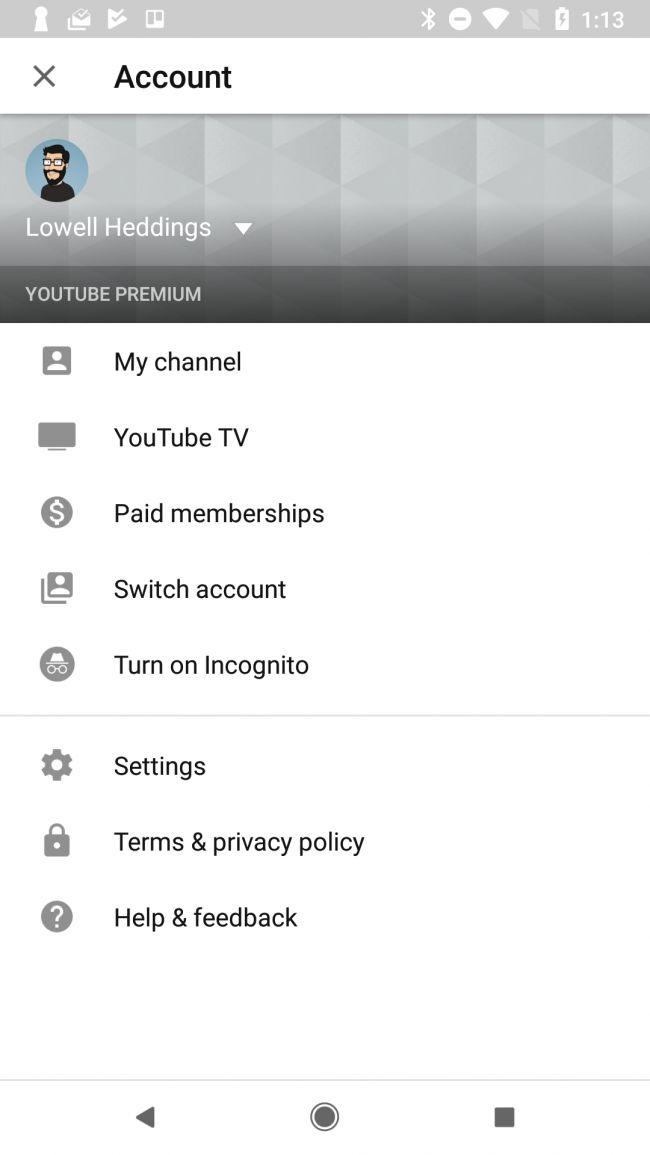 my youtube has a black screen