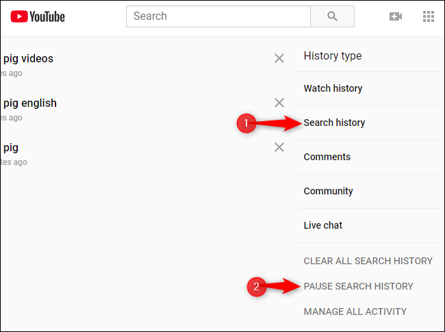 how to delete youtube search history on iphone 2016