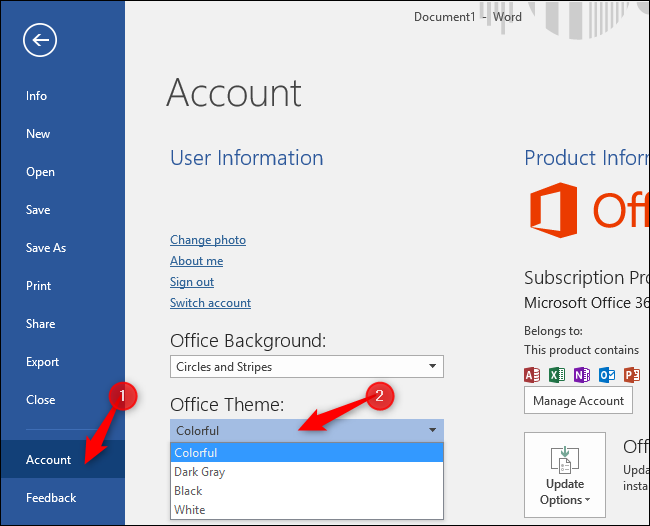 How To Enable Dark Mode In Microsoft Office