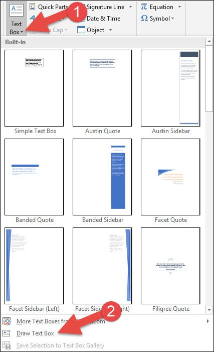 How To Create And Format A Text Box In Microsoft Word