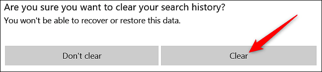 how to clear your bing search history