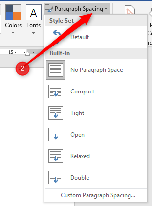 how to change line spacing in word document