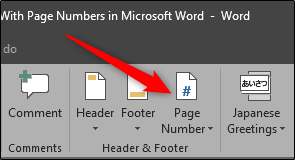Page Numbers Microsoft Word