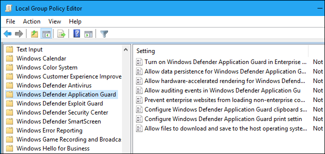 Aktivieren von Windows Defender Application Guard für Microsoft Edge