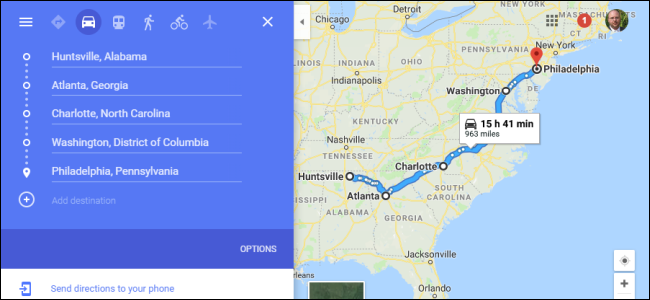 How to Plan a Road Trip with Multiple Destinations on Google ... Google Map Find Direction on mapquest driving directions, maps get directions, maps and directions,