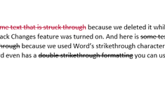 How to Draw a Line Through Words in Microsoft Word
