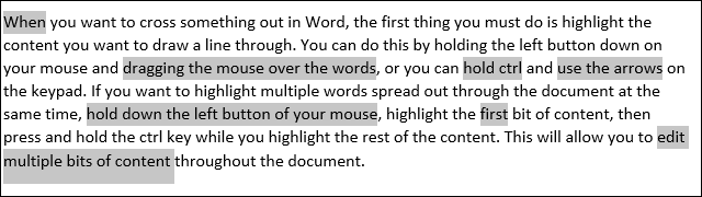 Highlight multiple words in Word