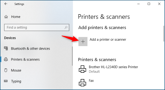 """ac283c53cae2 You can also use the old interface at Control Panel > Hardware and Sound >  Devices and Printers. Click the """"Add a Printer"""" button to get started."""