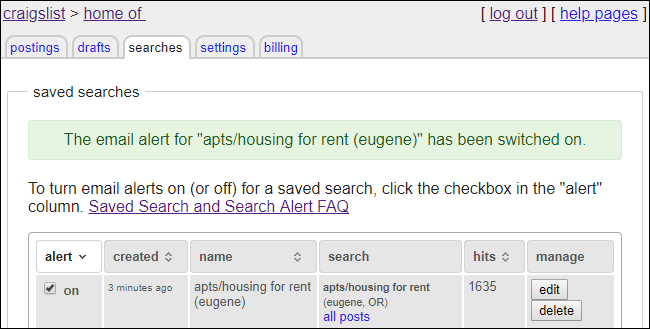How to Set Up Craigslist Alerts (for Email or SMS)