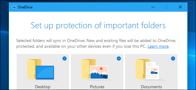 Setting up folder protection on OneDrive.