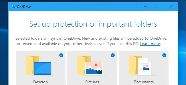 Setting up folder protection on OneDrive.