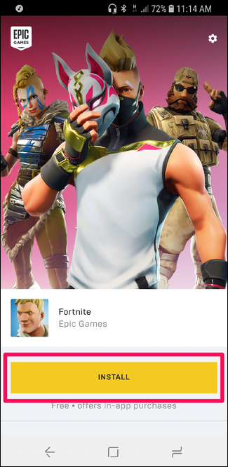 download fortnite for android epic games