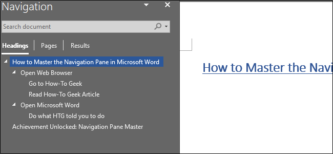 Use the Navigation Pane in Word to Easily Reorganize Documents