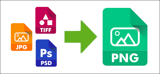 diagram showing various image file formats