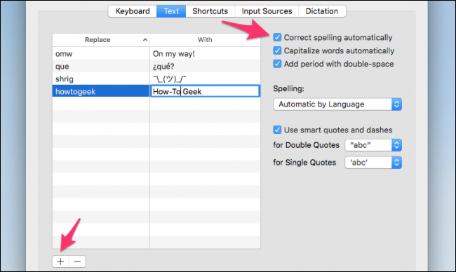 how to change autocorrect for mac