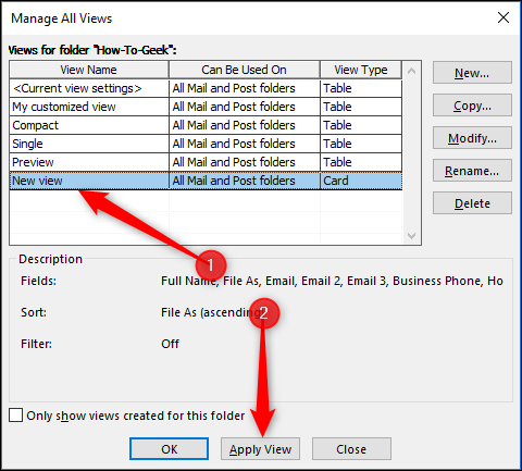 How to Create and Customize a Folder View in Outlook