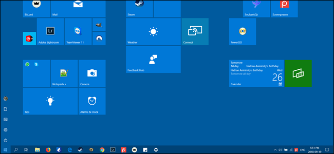 How To Enable A Windows 8 Style Start Screen In Windows 10