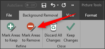 Mark areas to remove