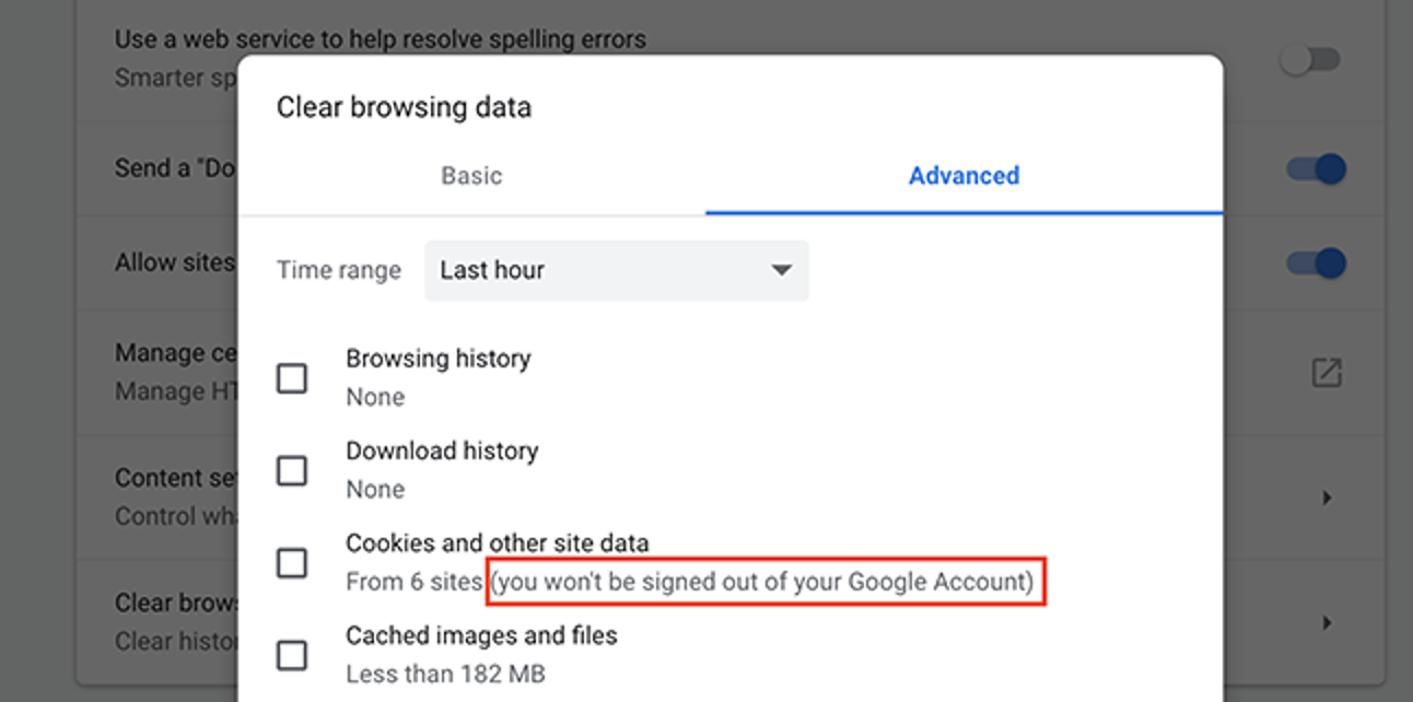 How to Delete Your Google Cookies in Chrome