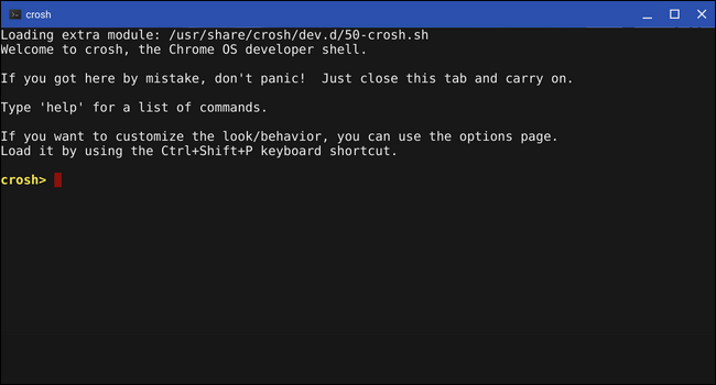 How is Crosh Different From the Linux Terminal on a Chromebook?