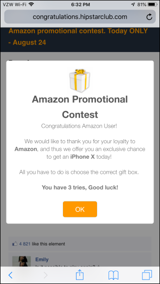 "Why Do Websites Redirect to Fake ""Congratulations"" Gift Card"