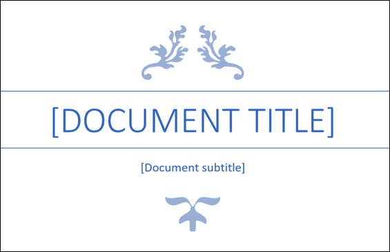 microsoft word title page template