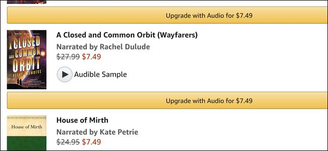 kindle, audible, audiobook, upgrade, discount