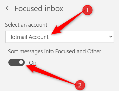 how to turn off focused inbox