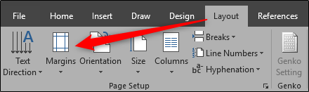 Set Margins in Word