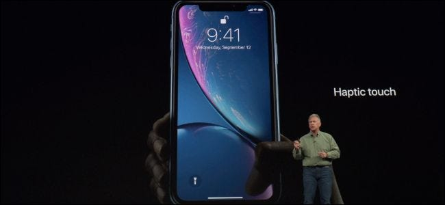 """The new iPhone XR features """"Haptic Touch"""" instead of 3D Touch. Apple's Phil Schiller quickly explained the new feature during Apple's presentation, ..."""