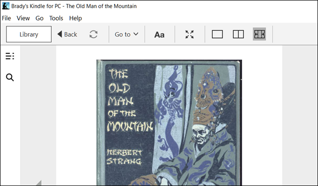 A AZW book in the Kindle desktop app