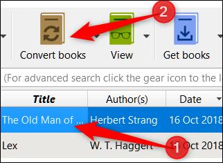 "Open Calibre, select a book, and then click ""Convert Books"""