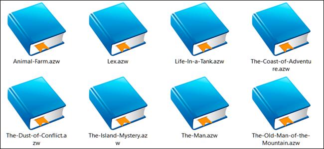 AZW file thumbnails