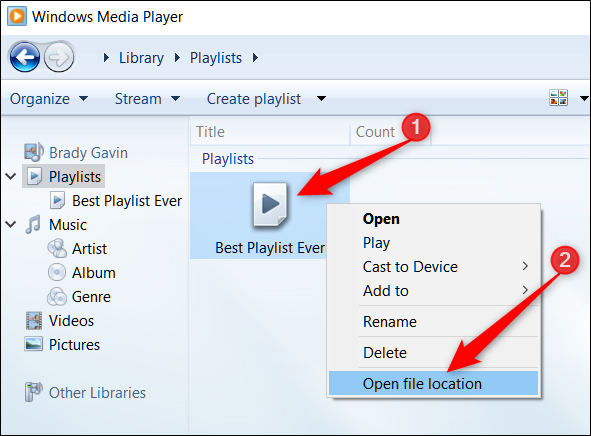 How to Transfer a Windows Media Player Playlist to a Different Computer