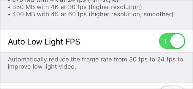 Record Better Low-Light Video on the iPhone XS With This Setting