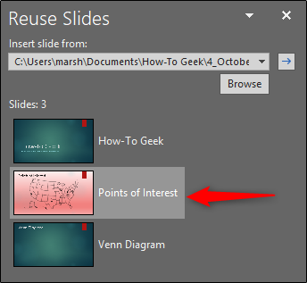Importing a Slide