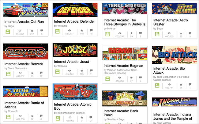 Play 1,785 Classic Arcade Games Right Now on The Internet Archive