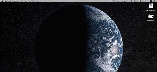 Dynamically changing wallpaper for Mac