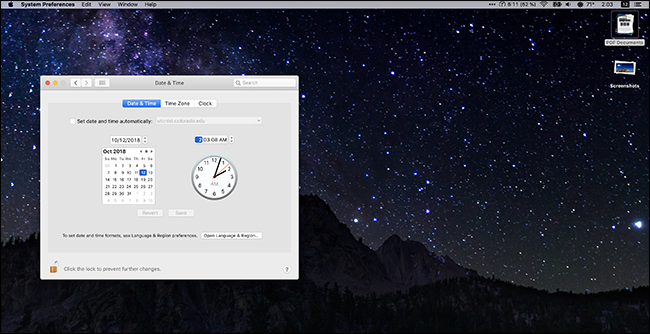 "To test it out head to System Preferences > Time & Day and mess with the clock, being sure to hit ""Save."" Your wallpapers will change as you do."