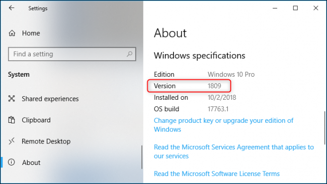 what is the latest version of windows 10